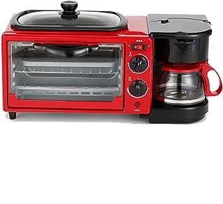 Máquina De Desayuno Multifuncional Mini Tostadora Doméstica De Pan De Tortilla De Café De Horno Eléctrico Mini En Tres,Red