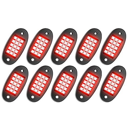 MustWin RGB LED Rock Lights, 150 LEDs...