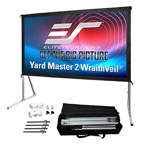 Elite Screens Yard Master 2 DUAL Projector Screen, 120-INCH 16:9, Front and Rear 4K/8K Ultra HD, Active 3D, HDR Ready Indoor and Outdoor Projection, OMS120H2-Dual  US Based Company 2-YEAR WARRANTY