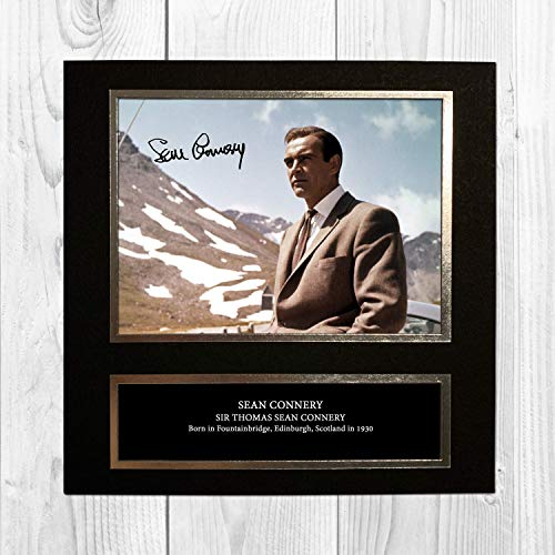 Sean Connery - 007 - James Bond - Goldfinger 4 NDB Signed Reproduction Autographed Wall Art - 10 Inch x 10 Inch Print (Card Mounted)
