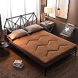 zyl Colchón de Tatami Grueso Plegable colchón de futón de Felpa colchón Antideslizante de Cachemira de Cordero colchón...