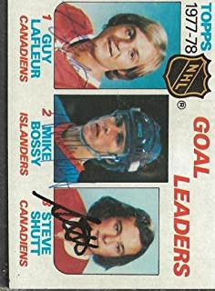 Mike Bossy Guy Lafleur Steve Shutt 1978 Topps Triple Autograph #63