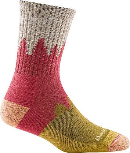 Darn Tough Women's Treeline Micro Crew Midweight with Cushion – Medium Cranberry Merino Wool Socks for Hiking