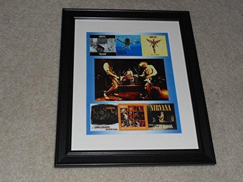 Nirvana 6 Album Cover Poster 1989-2009 Framed Print Nevermind, In Utero, Bleach 14'x17'