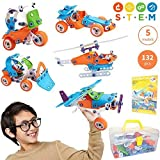 Toy Pal STEM Toys for 6-8 Year Old Boys Girls | 7 in 1 Engineering Building Set | 163 Pc Educational...