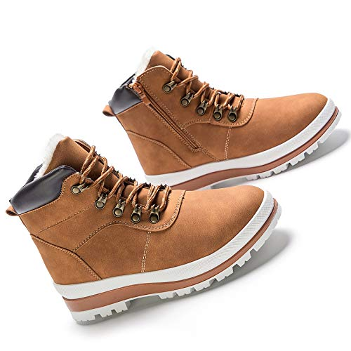 Iarus Women's Hiking Boots Waterproof Suede Leather Hiking Shoes for Women Breathable Comfortable Lightweight Hiking Boot(Camel10)