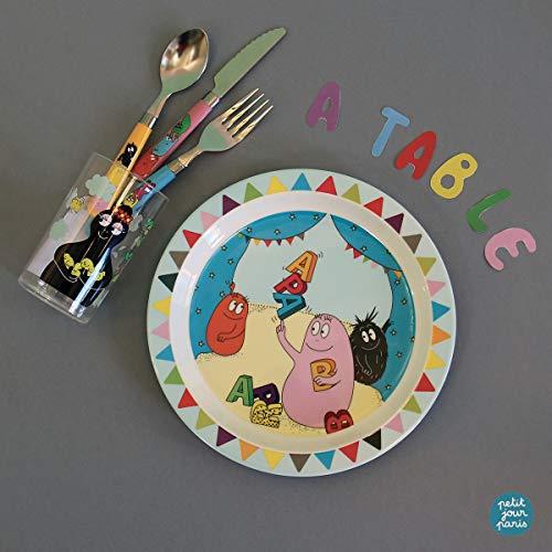 Encore une part! Barbapapa Petit Jour Paris Set 3 Assiettes et un Tablier BABU42