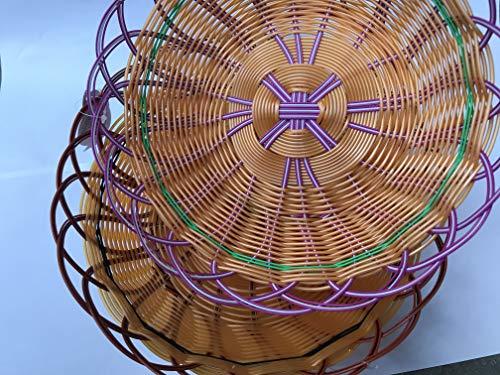 TopgadgetsUK Diep Plastic Kleurrijk Brood Naan Roti Chappati Mand aprox11