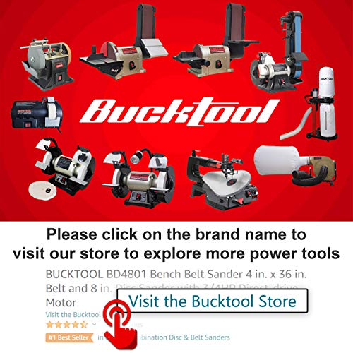 BUCKTOOL 16-inch Variable Speed Scroll Saw Band saw for woodworking with Pedal Switch Cast Iron Work Table