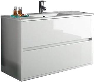 Salgar noja 900 - Mueble noja 900/blanco +lavabo porcelana