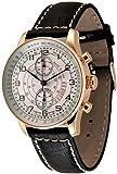 Zeno Watch Basel Reloj para Hombre Analógico Automático con Brazalete de Cuero P557BVD-Pgr-f2-Puls