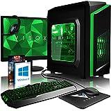 VIBOX FX 70 PC Gaming Computer con War Thunder Voucher di Gioco, Windows 10 Pro OS, 22' HD Monitor (4,2GHz AMD FX 8-Core Processore, Nvidia GeForce GTX 1050 Scheda Grafica, 8GB RAM, 1TB HDD)