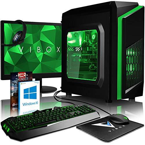 Vibox FX 53 PC Gamer Unité Centrale 21,5'' Vert (AMD FX-Series, 8 Go de RAM, 1 to, Nvidia GeForce GTX 1050 Ti, Windows 10)