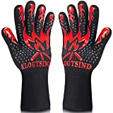 BBQ Gloves, Grill Gloves 1472°F Extreme Heat Resistant, Silicone Non-Slip Oven Gloves for Barbecue, Cooking, Baking, Smoker, Cutting