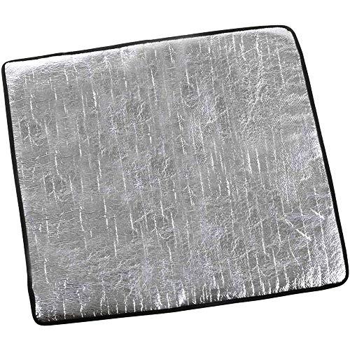 Chaslean バーナーシート 耐熱シート 耐炎繊維製 アルミ蒸着フィルム 輻射熱をカット テーブルや地面を保護 ガスコンロアクセサリー キャンプ用品