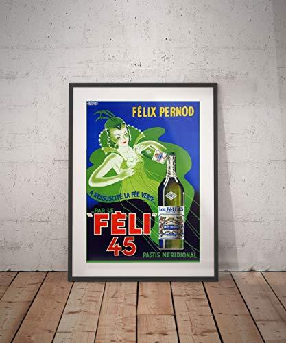 Rac76yd felix pernod poster vintage vintage poster drank dranken aperitieven alcholische reclame muur decor