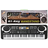61 Key Keyboard Piano For Kids,Children Portable Electric Organ,Music Electronic Keyboards Piano Educational Toy For Boy Girls (black)