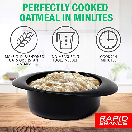 Product Image 2: Rapid Oatmeal Cooker   Microwave Instant or Old-Fashioned Oats in 2 Minutes   Perfect for Dorm, Small Kitchen, or Office   Dishwasher-Safe, Microwaveable, & BPA-Free