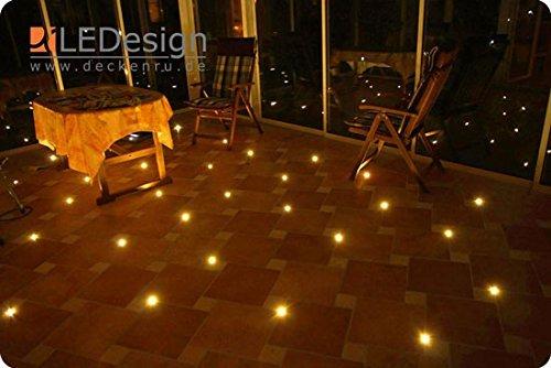 12x Fliesen LED 3mm Fuge Licht Beleuchtung inkl. Trafo Fugenlicht Kreuz Fliesenlicht (warm-weiß)