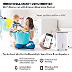Honeywell Basement & Small Room Up to 1000 Sq. Ft, TP30AWKN Smart Wi-Fi Energy Star Dehumidifier, 30 Pint, White 16 POWERFUL DEHUMIDIFIER FOR ROOMS UP TO 4000 SQUARE FEET: This powerful beast effectively removes up to 70 pints of moisture from the air (50-Pint 2019 DOE Standard) to protect walls, curtains, furniture and appliances from excess household moisture. Ideal for large basements, living rooms, cellars, and storage rooms. PEACE OF MIND WITH A BRAND YOU TRUST: Honeywell Dehumidifiers are top rated by an independent, US-based product safety-testing agency since 2016 and all Honeywell Dehumidifiers are backed by an outstanding warranty. Plus, if you ever need help, the Honeywell Home Comfort customer service hotline connects you directly to an in-house customer support team who are ready to help (during office hours). SMART & VERSATILE: Wi-Fi-Enabled and compatible with Amazon Alexa voice commands, the Honeywell Smart Dehumidifier can be controlled from almost anywhere. Change humidity and fan-speed settings without moving away from your busy routine.