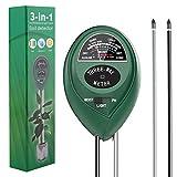 ATUIO - 3 en 1 Humedad del Suelo, Medidor de Suelo, Medidor de pH Medidor de [Luz] [Humedad]...