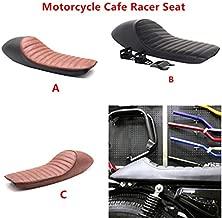 Universal Vintage Cafe Racer Seat Retro Saddle Motorcycle For BMW Honda Kawasaki Suzuki GS GT380 TU250 Yamaha XJ XT350 XT600 (Brown)