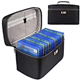Game Disc Case Holder for PS4/ PS4 PRO/Xbox One Carrying Bag Storage Organizer for Car Home Office Travel Handbag (Hold 20 Discs)(Black) [video game] [video game] [video game] [video game]