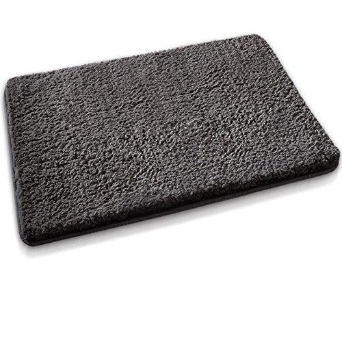 Badematte aus weichem & kuscheligem Hochflor | Öko-Tex zertifiziert | anthrazit | 60x100cm