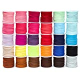 30 Pack Leather Cord Lacing for Jewelry Making, DIY Crafts (5.5 Yards/Spool, 30 Colors)