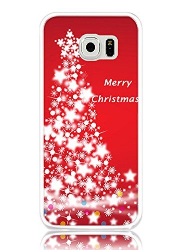 S6 Case Hard PC Cover Protective Case for Samsung Galaxy S6 Merry Christmas