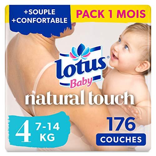 Lotus Baby Natural Touch - Couches Taille 4 (7-14 kg) - lot de 8 paquets de 22 couches (176 couches en totale)