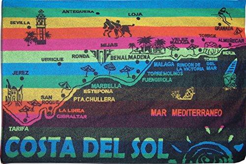 UNIVERSFUN-Toalla de playa, diseño de bandera de España Marbella Malaga: Amazon.es: Jardín