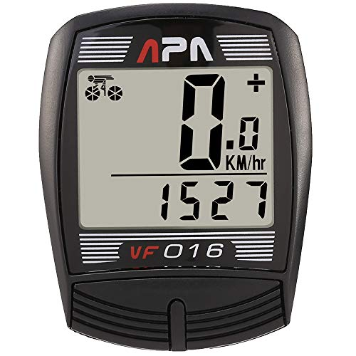 DREAM SPORT Cycle Computer Wired, Accurate Speedometer for Bike with Trip Distance and Timer, Waterproof Durable Bicycle Computer (Model: DCY016 Black)