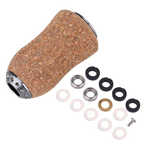 Angelrolle Griffknopf, Durable Wood Knob Ersatzteile Angelgriffknopf für Baitcast/Daiwa/Spinning Angelrolle Griff(B)