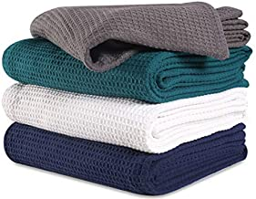 100% Soft Premium Cotton Thermal Blanket in Waffle Weave- King 102x90 Charcoal-Snuggle in These Super Soft,Breathable Cozy Cotton Blankets - Perfect for Layering Any Bed,All Season Blanket