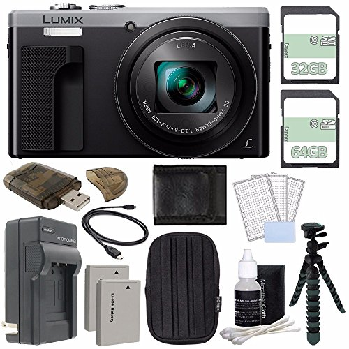 Panasonic Lumix DMC-ZS60 Digital Camera (Silver) +...