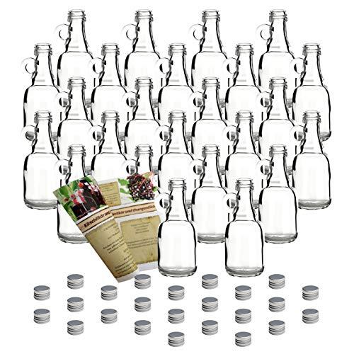 "\'20Mini Botellas de cristal vacías\""Asa 40ml botella biberón con cristal Discount de recetas folleto incl. Rosca, vacías Botellas Pequeñas botellas licor botellas vinagre botellas botellas de aceite"