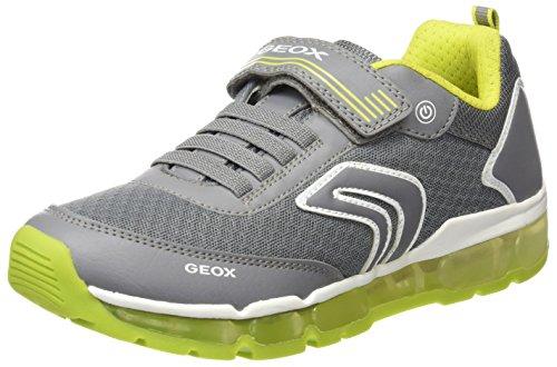 Geox Jungen J Android  Low-top A Sneaker, Grau (Grey), 34 EU