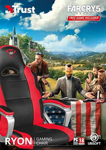 Trust Gxt 705 Ryon Gaming-Stuhl mit Far Cry 5, Leder, Schwarz/Rot, 70 x 63 x 127 cm