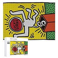 ジグソーパズル 木製パズル 壁の装飾 壁飾り 500ピース 1000ピース 教育ゲーム 知育玩具 パズル puzzle キース ヘリング (4) 多機能 人気 誕生日 プレゼント 贈り物