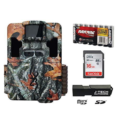 Browning Dark OPS PRO XD Wildkamera, Doppelobjektiv, Komplettpaket mit 16 GB Karte und J-TECH Kartenleser (24 MP) | BTC6PXD