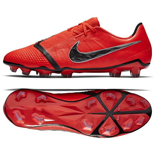 Nike Men's Phantom Venom Elite FG Soccer Cleats (Bright Crimson/Black) (8.5)