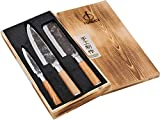 Forged Olive Messerset 3-teilig, handgefertigt, in Holzkiste