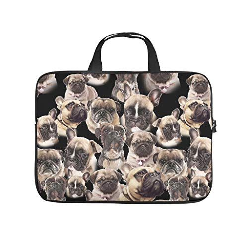 Pug Dog Laptop Case Bag Waterproof Tote Bag for Notebook/MacBook/Ultrabook/Chromebook White 17 Zoll