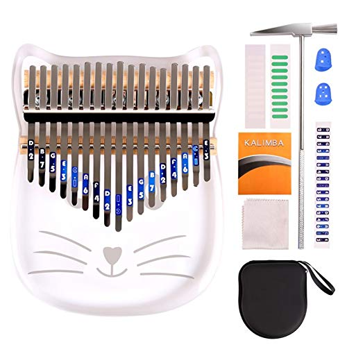 Kalimba Thumb Piano, Portable Finger Piano, Handheld Musical Instrument with Waterproof Bag and Box including Study Instruction and Tune Hammer, Valentines Gift for Girl or Wife