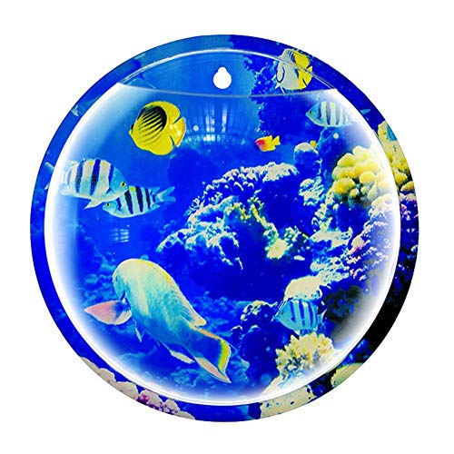 Katurn Wandaquarium - Aquarium Bowl Wall Mounted Aquarium Acryl Vase Pflanze Ornament Blumentopf Für Hauptdekoration