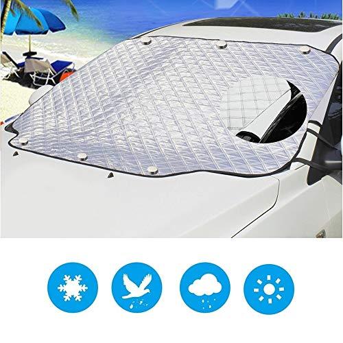 NBSMN Windschutzscheibe Abdeckung, 6 Große Magnete Sonnenschutz-isoliervorhang Faltbare Abnehmbare Eisschutzfolie, Verwendet Für Outdoor Tischsets Etc