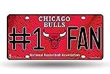 Rico NBA #1 Fan US-Kennzeichen Metall-Schild Chicago Bulls -