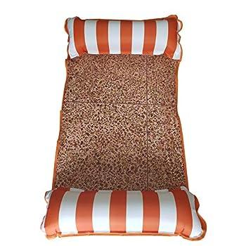 Selle Piscine Drifter Lit Gonflable Hammock Jouet Plage Multi-UTIL Beach Sports d'eau Chaise Polaire Flottante Flottante en Plein air (Color : Orange)