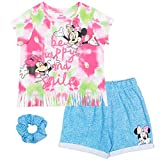 Disney Minnie Mouse Baby Girls T-Shirt French Terry Shorts Set Pink/Green 18 Months